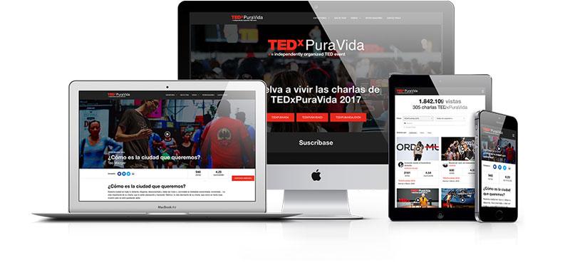 TEDxPuraVida website