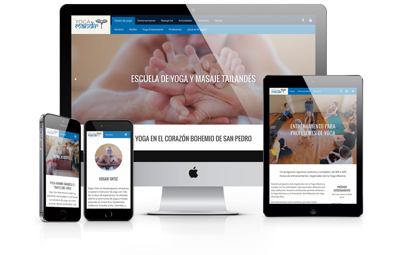 Yoga Mandir website