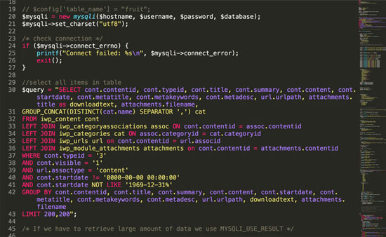 Migration code