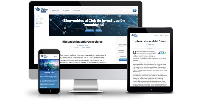Club de Investigación Tecnológica website